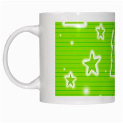Green Christmas White Mugs by Valentinaart