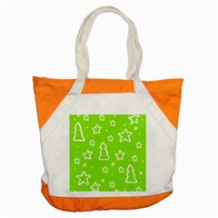 Green Christmas Accent Tote Bag by Valentinaart