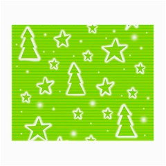 Green Christmas Small Glasses Cloth (2 Side) by Valentinaart