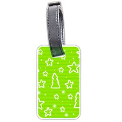 Green Christmas Luggage Tags (one Side)