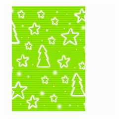 Green Christmas Large Garden Flag (two Sides) by Valentinaart