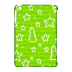 Green Christmas Apple Ipad Mini Hardshell Case (compatible With Smart Cover) by Valentinaart
