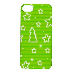 Green Christmas Apple Iphone 5s/ Se Hardshell Case by Valentinaart