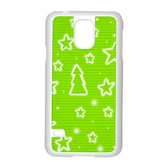 Green Christmas Samsung Galaxy S5 Case (white) by Valentinaart