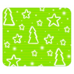 Green Christmas Double Sided Flano Blanket (small)  by Valentinaart