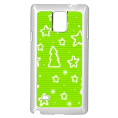 Green Christmas Samsung Galaxy Note 4 Case (white) by Valentinaart