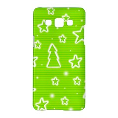 Green Christmas Samsung Galaxy A5 Hardshell Case  by Valentinaart