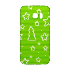 Green Christmas Galaxy S6 Edge by Valentinaart