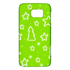 Green Christmas Galaxy S6 by Valentinaart