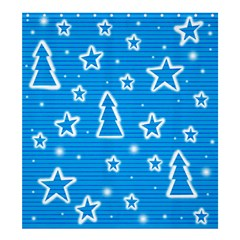 Blue Decorative Xmas Design Shower Curtain 66  X 72  (large)  by Valentinaart