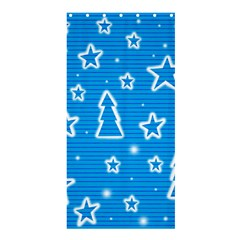 Blue Decorative Xmas Design Shower Curtain 36  X 72  (stall)  by Valentinaart