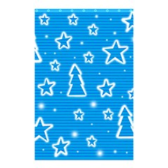 Blue Decorative Xmas Design Shower Curtain 48  X 72  (small)  by Valentinaart