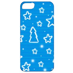 Blue Decorative Xmas Design Apple Iphone 5 Classic Hardshell Case by Valentinaart