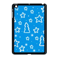 Blue Decorative Xmas Design Apple Ipad Mini Case (black) by Valentinaart