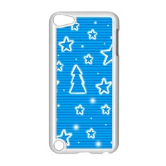 Blue Decorative Xmas Design Apple Ipod Touch 5 Case (white) by Valentinaart