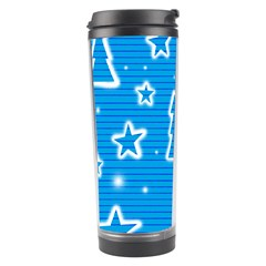 Blue Decorative Xmas Design Travel Tumbler by Valentinaart