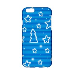 Blue Decorative Xmas Design Apple Iphone 6/6s Hardshell Case by Valentinaart