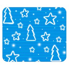 Blue Decorative Xmas Design Double Sided Flano Blanket (small)  by Valentinaart