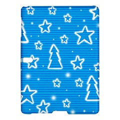 Blue Decorative Xmas Design Samsung Galaxy Tab S (10 5 ) Hardshell Case  by Valentinaart