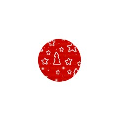 Red Xmas 1  Mini Buttons