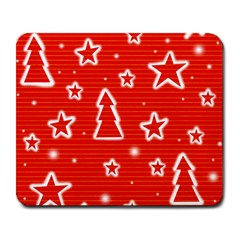 Red Xmas Large Mousepads by Valentinaart