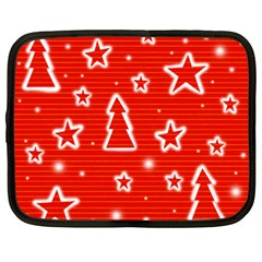Red Xmas Netbook Case (xxl)  by Valentinaart