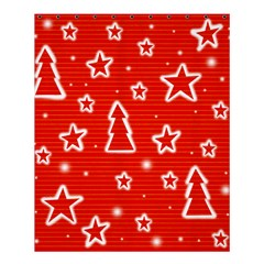 Red Xmas Shower Curtain 60  X 72  (medium)  by Valentinaart