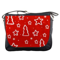 Red Xmas Messenger Bags