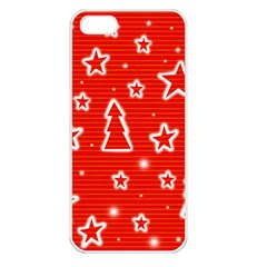Red Xmas Apple Iphone 5 Seamless Case (white) by Valentinaart