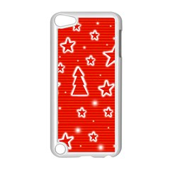 Red Xmas Apple Ipod Touch 5 Case (white) by Valentinaart