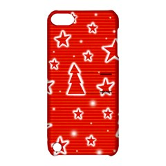 Red Xmas Apple Ipod Touch 5 Hardshell Case With Stand by Valentinaart