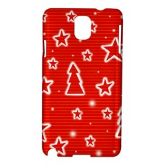 Red Xmas Samsung Galaxy Note 3 N9005 Hardshell Case by Valentinaart