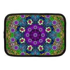 Colors And Flowers In A Mandala Netbook Case (medium)  by pepitasart