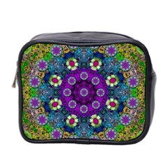Colors And Flowers In A Mandala Mini Toiletries Bag 2 Side by pepitasart