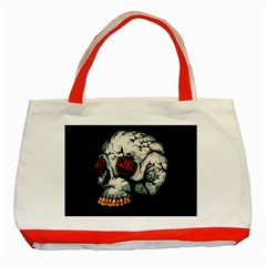 Halloween Skull Classic Tote Bag (red) by lvbart