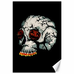 Halloween Skull Canvas 12  X 18   by lvbart