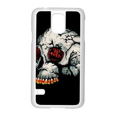 Halloween Skull Samsung Galaxy S5 Case (white) by lvbart