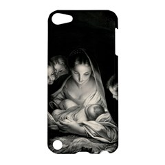 Nativity Scene Birth Of Jesus With Virgin Mary And Angels Black And White Litograph Apple Ipod Touch 5 Hardshell Case by yoursparklingshop
