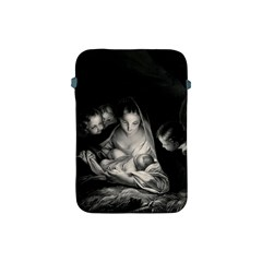 Nativity Scene Birth Of Jesus With Virgin Mary And Angels Black And White Litograph Apple Ipad Mini Protective Soft Cases