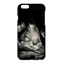 Nativity Scene Birth Of Jesus With Virgin Mary And Angels Black And White Litograph Apple Iphone 6 Plus/6s Plus Hardshell Case by yoursparklingshop