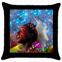 African Star Dreamer Throw Pillow Case (black) by icarusismartdesigns