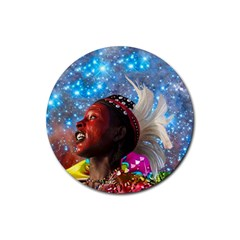 African Star Dreamer Rubber Coaster (round)