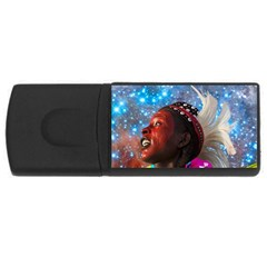 African Star Dreamer Usb Flash Drive Rectangular (4 Gb)  by icarusismartdesigns