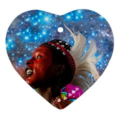 African Star Dreamer Heart Ornament (2 Sides) by icarusismartdesigns