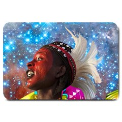 African Star Dreamer Large Doormat  by icarusismartdesigns