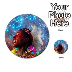 African Star Dreamer Multi Purpose Cards (round)  by icarusismartdesigns