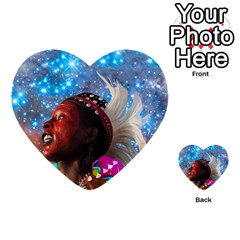 African Star Dreamer Multi Purpose Cards (heart)  by icarusismartdesigns