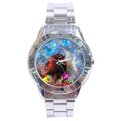 African Star Dreamer Stainless Steel Analogue Watch by icarusismartdesigns