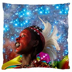 African Star Dreamer Standard Flano Cushion Case (two Sides) by icarusismartdesigns