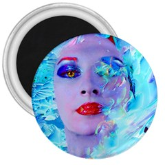 Swimming Into The Blue 3  Magnets by icarusismartdesigns